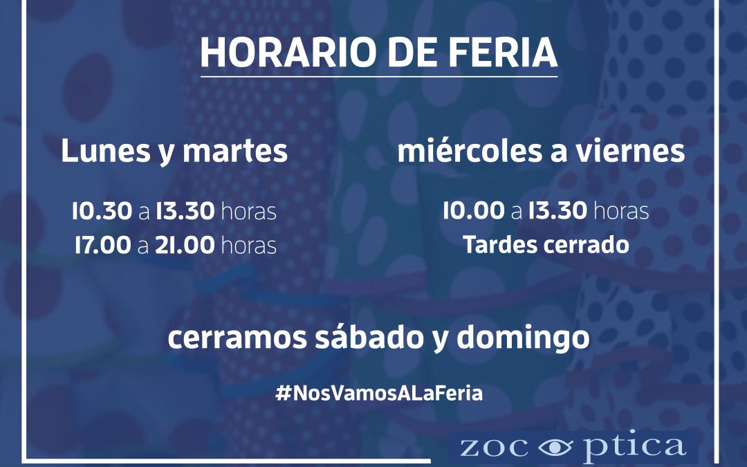 Horario Feria 2018